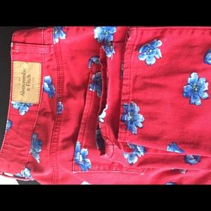 Abercrombie&Finch red jeans